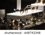 luxury eyeglasses in a store in ... | Shutterstock . vector #648742348