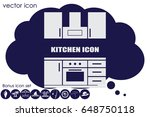 drawing kitchen interior plan... | Shutterstock .eps vector #648750118