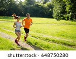 fitness training for couple in... | Shutterstock . vector #648750280