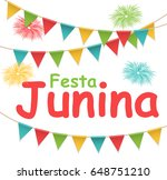 festa junina holiday background.... | Shutterstock .eps vector #648751210