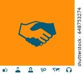 handshake icon illustration.... | Shutterstock . vector #648753274