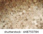 wooden background of hexagonal...   Shutterstock . vector #648753784