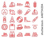 ship icons set. set of 25 ship... | Shutterstock .eps vector #648754204