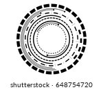 abstract black circle... | Shutterstock . vector #648754720