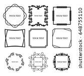 decorative black frames set   Shutterstock .eps vector #648755110