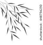 vector bamboo leaves | Shutterstock .eps vector #648756250