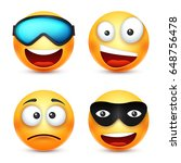 smiley with glasses smiling... | Shutterstock .eps vector #648756478