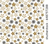 flower seamless pattern....   Shutterstock .eps vector #648757288