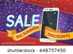 sale banner template design.... | Shutterstock .eps vector #648757450