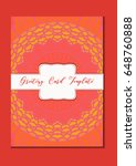 mandala vintage template card... | Shutterstock .eps vector #648760888