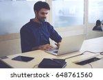 professional bearded male it... | Shutterstock . vector #648761560