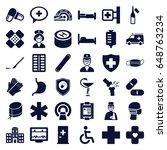 hospital icons set. set of 36...   Shutterstock .eps vector #648763234