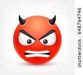 Smiley Angry Sad Devil Emoticon....