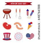 set of patriotic icons... | Shutterstock .eps vector #648766588