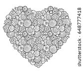 big decorative heart with...   Shutterstock .eps vector #648777418