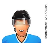 hockey palyer no tooth | Shutterstock .eps vector #648778804