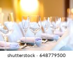 beautifully served table in a... | Shutterstock . vector #648779500