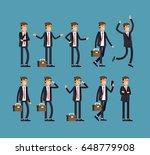 large vector set of businessman ... | Shutterstock .eps vector #648779908