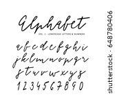 hand drawn vector alphabet.... | Shutterstock .eps vector #648780406