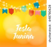 brazilian festa junina greeting ... | Shutterstock .eps vector #648780628