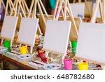 painting at art school. | Shutterstock . vector #648782680