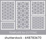 decorative panels set for laser ...   Shutterstock .eps vector #648783670