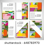 set of a4 cover  abstract...   Shutterstock .eps vector #648783970