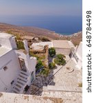 Small photo of Greece, panoramic sea view on an Aegean island