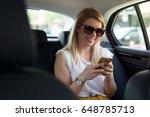 attractive young blonde hair... | Shutterstock . vector #648785713