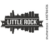 little rock skyline silhouette... | Shutterstock .eps vector #648786436