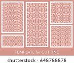 decorative panels set for laser ...   Shutterstock .eps vector #648788878