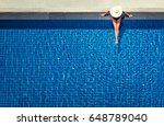 enjoying suntan. vacation... | Shutterstock . vector #648789040