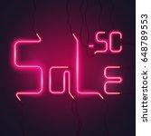 neon sign. red light of an... | Shutterstock .eps vector #648789553