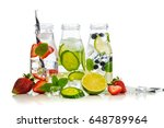 Variety Of Infused Detox Water...