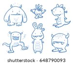 Set Of Funny Cool Monsters ...