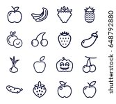 ripe icons set. set of 16 ripe... | Shutterstock .eps vector #648792880