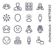 avatar icons set. set of 16...   Shutterstock .eps vector #648793810
