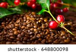 coffee background. real coffee... | Shutterstock . vector #648800098