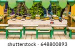 children's feet on a swing path ... | Shutterstock . vector #648800893