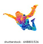 abstract skydiver paint | Shutterstock .eps vector #648801526