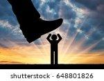 humiliation concept. big foot... | Shutterstock . vector #648801826