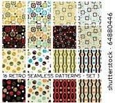Sixteen Seamless Retro Pattern...