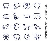 mammal icons set. set of 16... | Shutterstock .eps vector #648804658