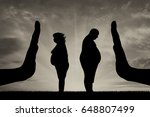 thick couple man and woman stop ... | Shutterstock . vector #648807499