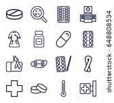 illness icons set. set of 16...   Shutterstock .eps vector #648808534