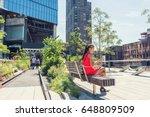 new york city lifestyle woman... | Shutterstock . vector #648809509
