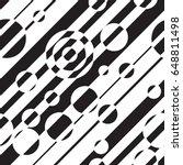 black and white geometric... | Shutterstock .eps vector #648811498