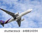 Small photo of Phuket, Thailand. May 27, 2017. Thai airway Taking Off from Phuket International Airport