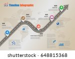design template  road map... | Shutterstock .eps vector #648815368