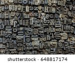metal letters background | Shutterstock . vector #648817174